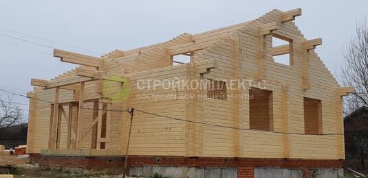 Строительство дома из сухого профилированного бруса в дер. Куземкино