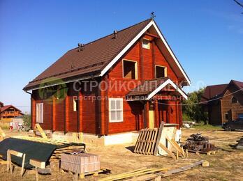 Фотоотчет о строительстве деревянного дома из профилированного бруса по проекту 1-13-1