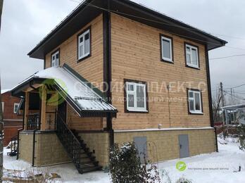 Готовый дом из профилированного бруса естеств влажности